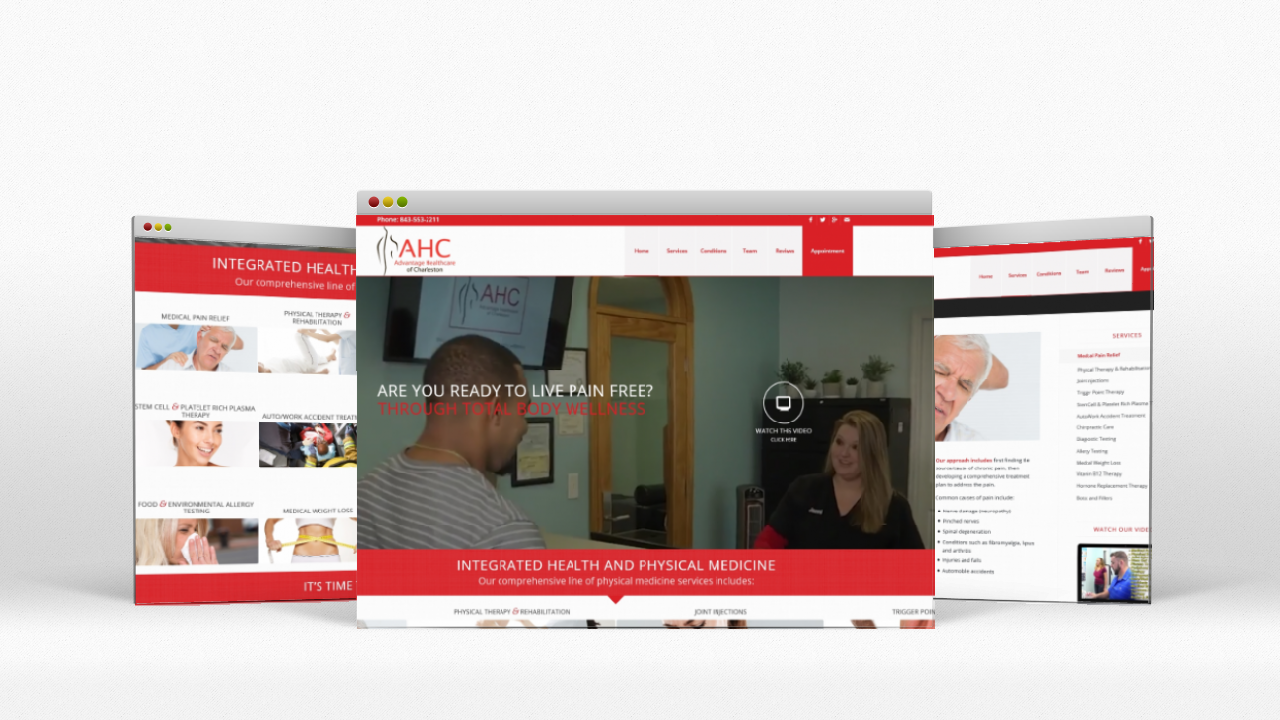 Website Design Advantage Healthcare of Charleston